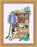 Boys Locker Cross Stitch Kit By Riolis