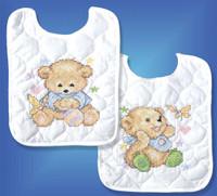 Baby Bears Bibs (2) Cross Stitch Kit By Design Works