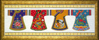 Kimono Row Cross Stitch Kit By Design Works