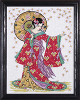 Red Geisha Cross Stitch Kit By Design Works