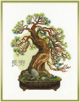 Bonsai Pine Wish Of Longevity Cross Stitch Kit