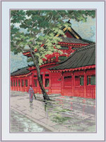 Red Pagoda Cross Stitch Kit
