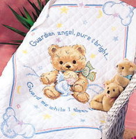 Cuddly Bear Quilt Cross Stitch Kit