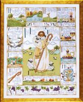 23Rd Psalm Cross Stitch Kit By Design Works