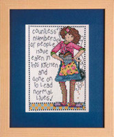 Normal Lives Cross Stitch Kit By Design Works