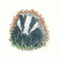 Badger Cross Stitch Kit For Beginners