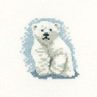 Polar Bear Cub Cross Stitch Kit