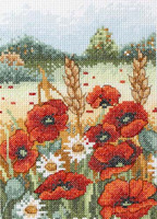 Poppy Field Starter Cross Stitch Kit