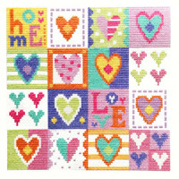 Love Hearts Cross Stitch Kit By Stitching Shed