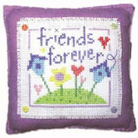 Friends Cushion Cross Stitch Kit