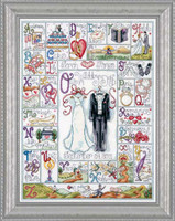 Wedding Abc Cross Stitch Kit By Design Works