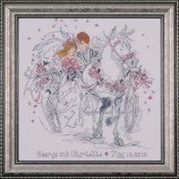 Wedding Carriage Cross Stitch Kit By Design Works