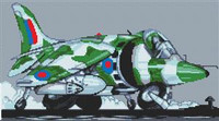 Harrier Jump Jet Cross Stitch Chart