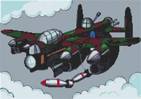 Lancaster Bomber Cross Stitch Chart