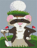 Ferret Caricature Cross Stitch Chart