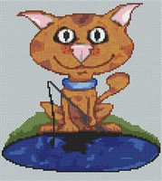 Ginger Tom Cat Caricature Cross Stitch Chart