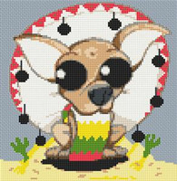 Chihuahua Dog Caricature Cross Stitch Chart