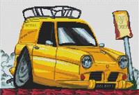 Del Boy Reliant Regal Van Cross Stitch Chart