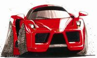 Ferrari Enzo Caricature Cross Stitch Chart