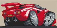 Lamborghini Countach Cross Stitch Chart