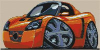 Opel Speedster Cross Stitch Chart