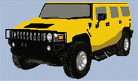 Hummer Cross Stitch Chart