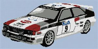 Audi Quattro Rally Car Cross Stitch Chart