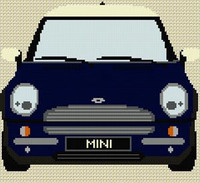 Bmw Mini Cross Stitch Chart