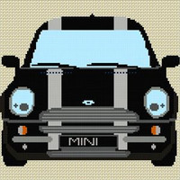 Bmw Mini Stripe Cross Stitch Chart