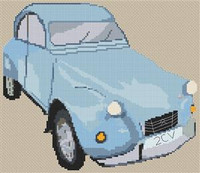 Citroen 2Cv Cross Stitch Chart