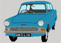 Ford Anglia Cross Stitch Chart