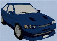 Ford Escort Cosworth Cross Stitch Pattern