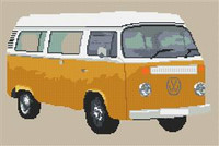 Volkswagen Camper Van Bay Window (Detailed) Cross Stitch Chart