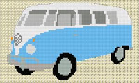 Volkswagen Camper Van Split Screen Cross Stitch Chart