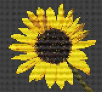 Sunflower Flower Cross Stitch Chart