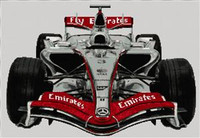 Formula 1 F1 Mclaren Cross Stitch Chart