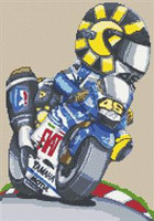 Valentino Rossi Fiat Bike Cross Stitch Chart