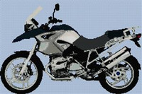 Bmw Gs 2006 Blue Motorcycle Cross Stitch Chart