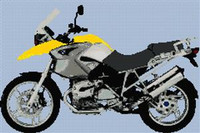 Bmw Gs 2006 Yellow Motorcycle Cross Stitch Chart
