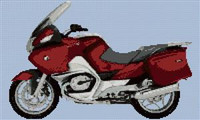Bmw R1200Rt 2006 Motorcycle Cross Stitch Chart