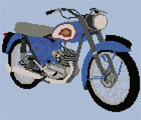Bsa Bantam 1960 Cross Stitch Chart