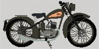 Bsa D1 Bantam 1949 Cross Stitch Chart