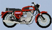 Bsa Rocket 3 1969 Motorcycle Cross Stitch Chart