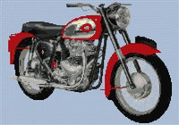 Bsa Superrocket Motorcycle Cross Stitch Pattern