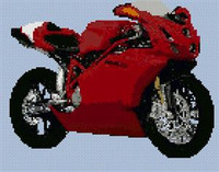 Ducati  749 Motorcycle Cross Stitch Chart