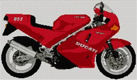 Ducati  851 Motorcycle Cross Stitch Chart