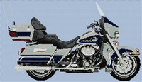2007 Harley-Davidson Flhtcu Ultra Classic Electra Glide Cross Stitch Chart White With Cobalt Blue