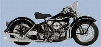 Harley Davidson 1946 Motorcycle Cross Stitch Chart