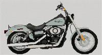 Harley Davidson 2007 Street Bob Cross Stitch Chart