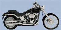 Harley Davidson Deuce Motorcycle Cross Stitch Chart
